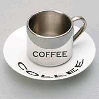 Anamorphic coffee mug from Lazybone