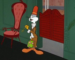 Still from Barbary Coast Bunny, starring Bugs Bunny