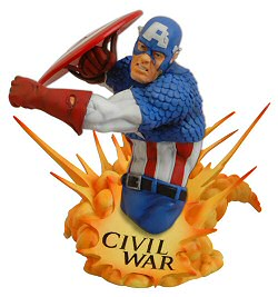Limited Edition Civil War Captain America bust from Diamond Select Toys