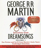 Dreamsongs Volume 1 by George R.R. Martin, audiobook CD cover art