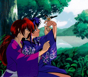 Kaoru and Kenshin from Rurouni Kenshin