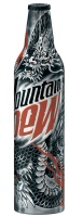 Mountain Dew aluminum bottle, designed by Troy Denning