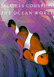 The Ocean World, by Jacques Cousteau, book cover art