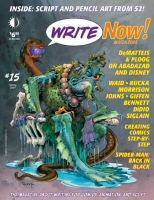 Magazine cover art for Write Now! #15