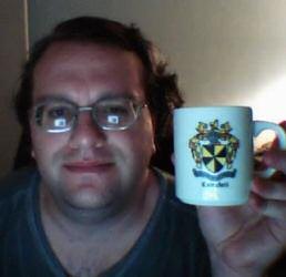 ScottC, drinking coffee